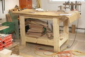 Build a sturdy workbench with studs.