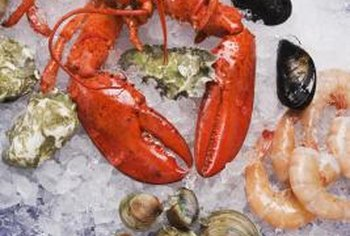Shellfish are high in cholesterol.