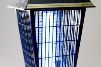 An electronic bug zapper can keep a balcony insect-free.
