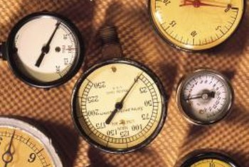 Pressure is measured with a simple gauge.