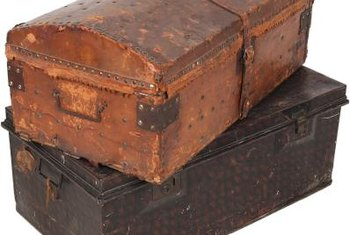 Paint vintage steamer trunks to accent a variety of decors.