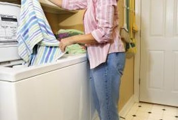 If your clothes aren't spinning dry, the washer's water pump may be blocked.