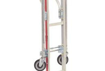 An appliance dolly is larger than a hand truck and distributes weight evenly.