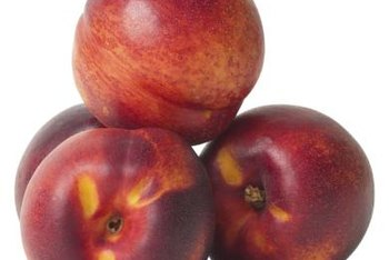 Nectarine fruits usually are redder and smaller than peach fruits.