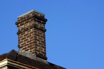 Sheet-metal flashing seals potential air and moisture leaks around chimneys.