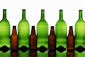 Glass bottles can be recycled into new bottles.