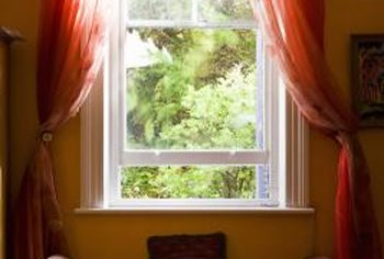A modern double-hung window sash is easy to remove and clean.