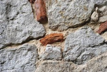 Mortar helps strengthen natural stack stone walls and other structures.