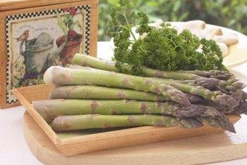 Harvest tender asparagus spears rather than more mature, woody stalks.