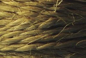 Jute comes in natural tan or dyed in a variety of colors.