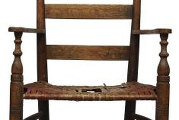 Rocking chair backs break from age and wear.