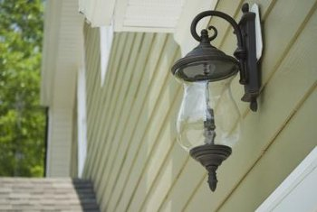 A mounting block makes installing an exterior light fixture easy.