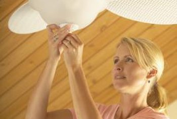 Many ceiling fans include light kits that can be controlled with a separate switch.