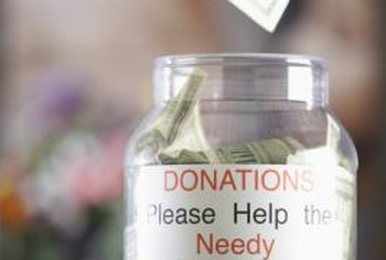 Make the label on your donation jar easy to read.