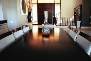 Zebra print spices up a bland dining room.