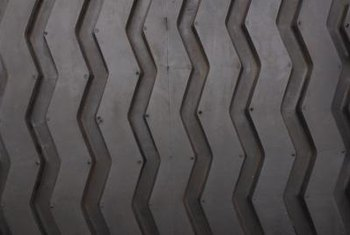 Tire tread patterns serve as creative, playful decor in masculine environments.