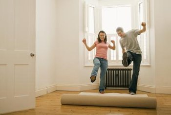 A previously rolled-up rug takes time to flatten out completely.