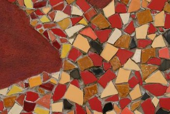 Mosaic designs can be simple or elaborate.
