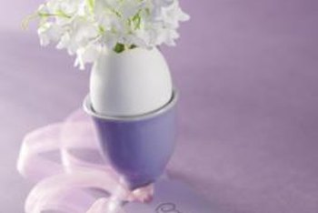 Easter decorations are typically fresh, light pastels.