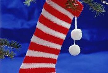 A mantle isn't the only place to hang a Christmas stocking.