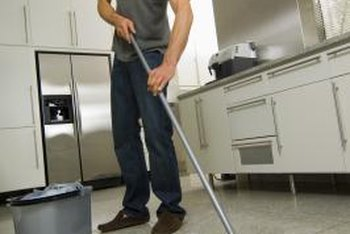 Clean tile floors effectively with simple homemade cleaning solutions.