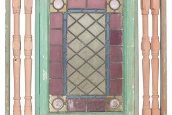 Most leaded glass windows are Tudor or Victorian in design.