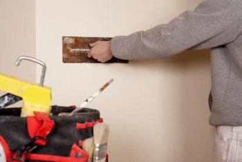 Performing minor home repairs like skim coating saves you money.