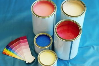 Sample-size latex paint works beautifully on carpet when mixed with fabric medium.
