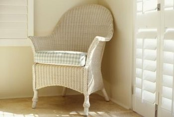 Revive tired wicker pieces with fresh paint and imagination.