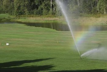 Cleaning a sprinkler system allows smooth operation and even coverage.