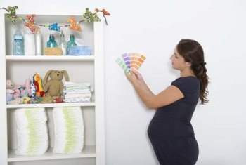 Color coordination and design help pull a nursery together.