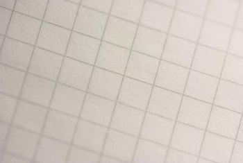 Graph paper is an excellent background for scale drawings.