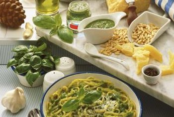 Parmesan cheese adds sodium to pesto.