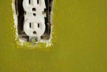 Remove Wall Outlet Cover Plates And Paint Them To Match The Walls