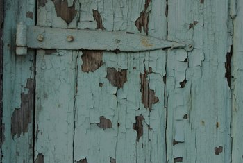 Peeling paint is one of the signs of rot.