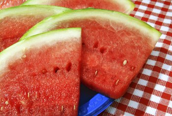 Watermelon is classified as a trailing herb.