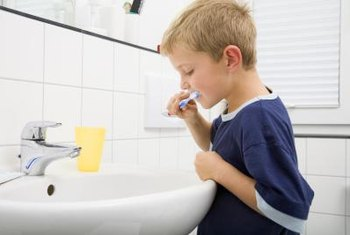 Turning off the water while you brush your teeth is a simple way to reduce greenhouse gases.
