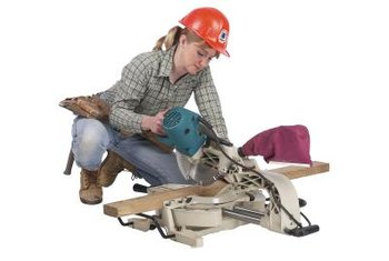The best saw for cutting laminate to length is a power miter saw.