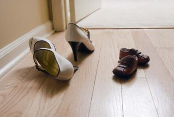 Make a habit of kicking off shoes before walking across the floor.