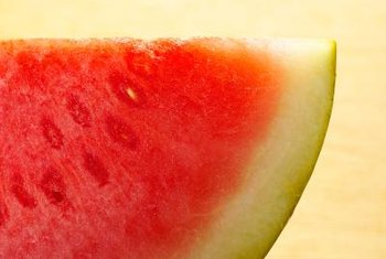 Seedless watermelons have unformed seeds that don't affect the fruit's flavor or texture.