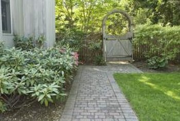 Brick pavers add charm to your garden.