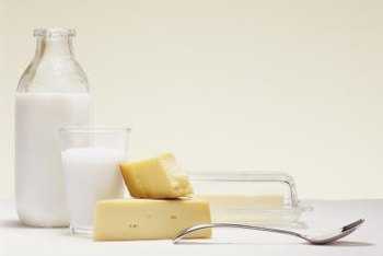 Although the concentration varies, butter and other dairy products all contain milk fat.