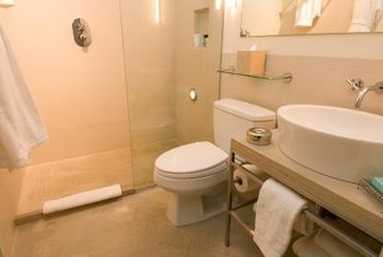 Clean shower doors can make a small bathroom seem bigger.