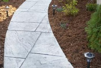 Add class to any outdoor living area with a slate walkway.