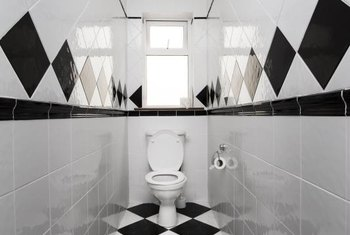 Squared, not diamond-shaped black-and-white floor tiles, are less
