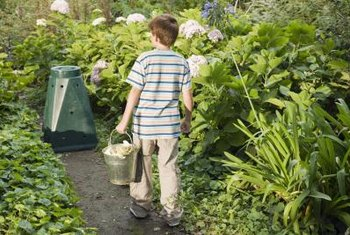 Composting converts raw organic materials into a rich soil conditioner.