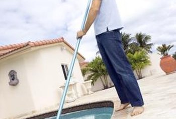 Keeping your pool clean can help minimize staining.