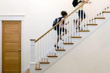 The balusters, or spindles, must be spaced correctly to be safe.