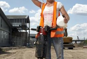 Jackhammers come in a variety of sizes and weight.