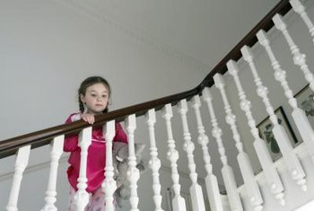 Paint Is One Way To Jazz Up Stairway Spindles.
